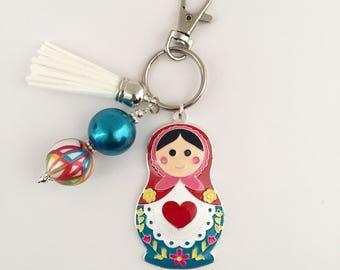 Nesting Doll Key Chain/Russian Nesting Doll/Babushka Doll Key Chain/Matryoshka Doll Key Chain/Russian Gift/Nesting Doll Gift