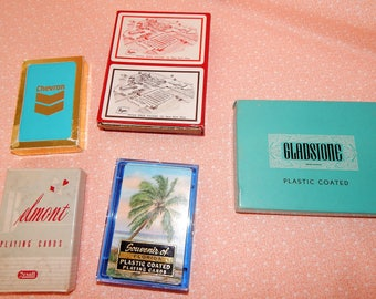 Vintage Playing Cards, Lot of Five