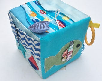 Activity cube | Baby sensory cube | Baby toys | Soft block