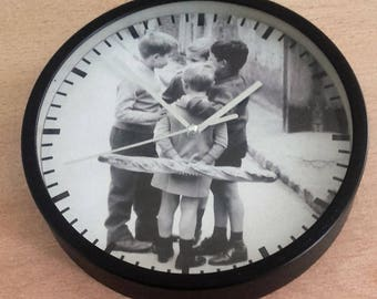 clock vintage wall kids pattern in the streets of Paris