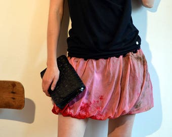 Brightly colored pink chiffon khaki and shades of pink tulle Bubble skirt