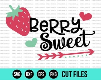 Summer SVG - SVG Files - Strawberry SVG - Berry Svg - Girl Svg - Cut Files - Cricut Files - Silhouette Files