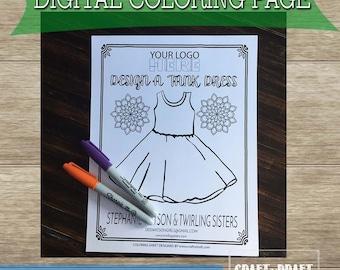 tank dress coloring page ballerina dress color page cap dress color page dds