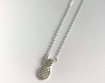 Dainty Pineapple Necklace | Silver Layering