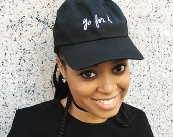 go for it - embroidered hat