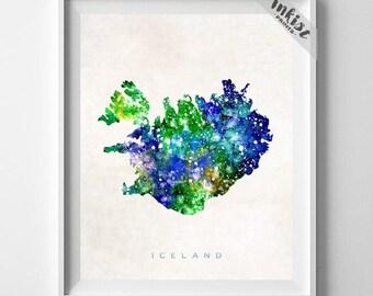 Iceland Map Print, Reykjavik Print, Iceland Poster, Reykjavik Map, Living Room Decor, Art, Map Print, Travel Poster, Dorm Decor