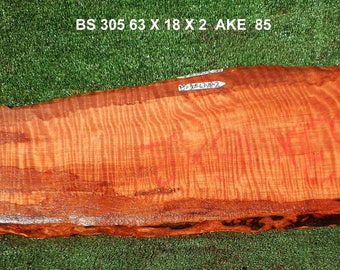 BS305   Redwood  burl slab with Curly grain