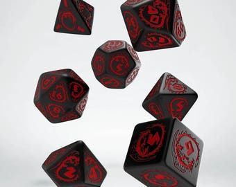 Dragon Dice Set, D&D, Dice Set, Dungeons and Dragons, Dragon RPG Dice, Geek, Geeky, DND, geekery