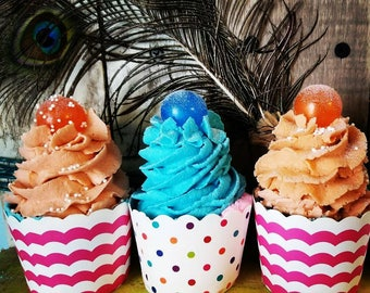 3 Bubble Bath Bomb Cupcakes