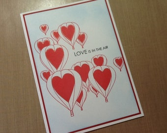 Love is in the air anniversary/love card