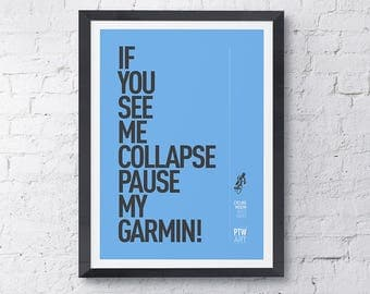Cycling motivational print