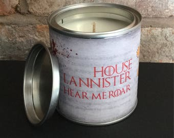 Game of Thrones House Lannister scented candle