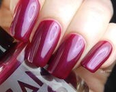 BEND the KNEE by CANVAS lacquer, a regal red-wine with violet shimmer