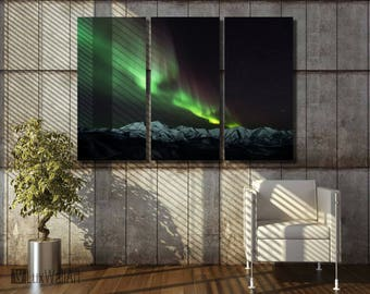 Northern Lights Aurora Borealis Wall Art Metal Print Decor Ready to Hang