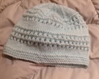 Beanie, adult size, hand knit
