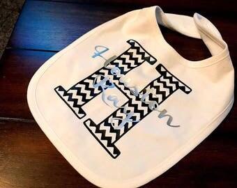 Personalized Baby Bib, Baby bib, Gifts for baby, Baby shower gift, New baby gift, Custom baby bib, Mom to be, Chevron baby bib