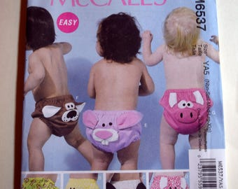 Infant Diaper Cover McCall's Sewing Pattern 6537