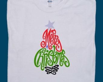 Merry Christmas tshirt, Christmas shirt, Merry Christmas tee, Christmas tree shirt, Christmas tree shirt women, Holiday shirts, Holiday tees