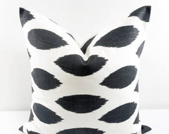 SALE Charcoal Pillow  Cover. Charcoal and White Pillow Cover. Chipper. Pillow cover.  Sham Pillow case. Select your size.