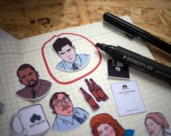 Office Space Stickers & Magnets, vinyl stickers, sticker pack, mike judge, milton, geekery, laptop stickers