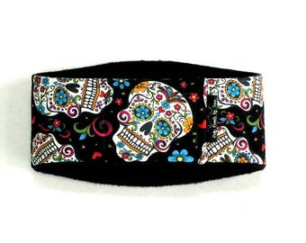 Sugar Skulls Male Dog Belly Band, dog diaper, belly bands by trina, dog wrap