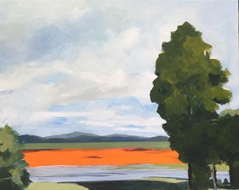 On the Road to Canberra, Currawang. Australian Landscape Painting, Original, Acrylic on Canvas, Australian Artist, Ready to Hang