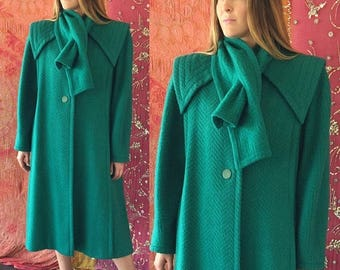Sale Renato Balestra Coat Cashmere Wool Coat Italian Couture Iconic Winter Coat