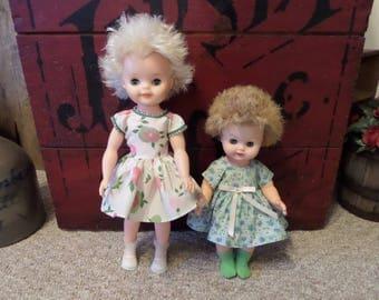 1960's Dolls Vintage Vinyl/Hard Plastic Original Dresses