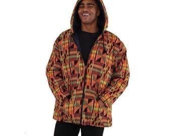 African Kente Print Jacket. Plus Size.