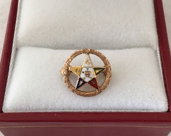 Eastern star jewelry etsy for Star hallmark on jewelry