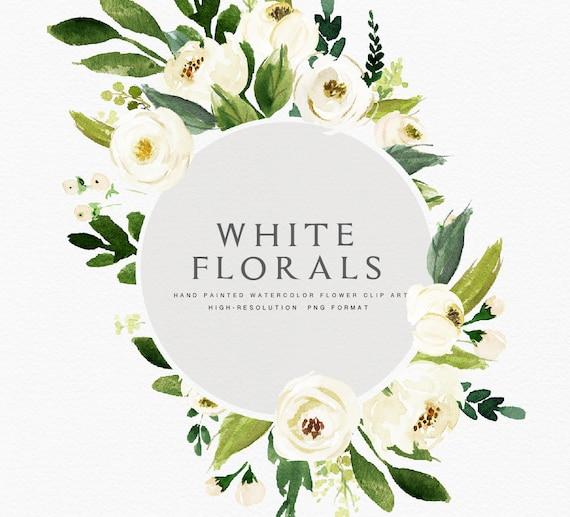 Watercolor Floral Clip Art Floral Frame Individual Png