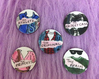 The Breakfast Club Pin Badge Collection