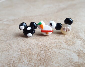 Bolt Mickey Mouse Inspired Earrings