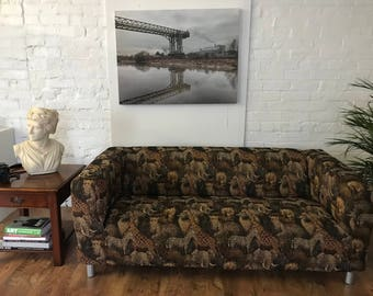 Quick Dispatch Ikea Kipping 2 seat sofa cover in Serengeti Print Tapestry Fabric