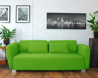 Slip cover to fit the ikea Mysinge 2 seat sofa LIME