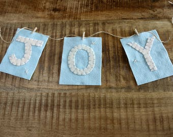 Holiday Banner Letters - Joy