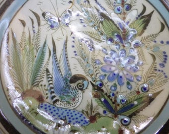 Hand  painted salad plate Ken Edwards collection, made in Mexico