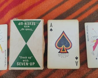 Vintage 7up Playing Cards