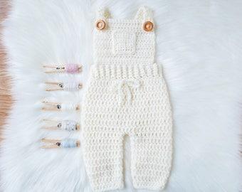 Newborn Knit Romper, Newborn Knit Overalls, Newborn Outfit, Knit Baby Overalls, Knit Baby Romper, Crochet Baby Outfit, Baby Boy Overalls