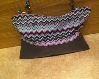 Removable oilcloth and cotton shoulder bag