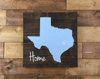 Pick Colors, Texas Wood Sign, Texas sign, Texas art, Texas decor, Texas Guest Book, Texas plaque, Texas home sign, Moving gift, Wood signs