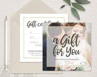 Photography gift certificate template gift card design photo photography gift certificate template gift certificate template instant download printable gift certificate yelopaper Images