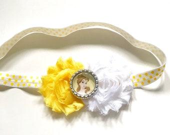 Belle inspired Headband, Beauty and the Beast, Disney Princess