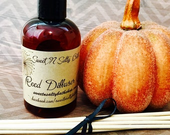 Sweet Pumpkin Spice Reed Diffuser Oil Refill With Reeds/More Fall Scents to Choose From!!