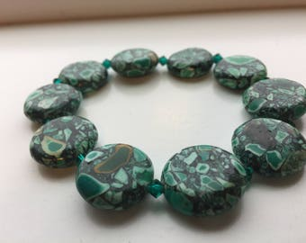 Green Mosaic Bracelet