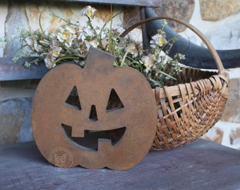 Wooden Pumpkin - Fall Decor - Painted Primitive