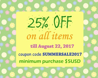 DISCOUNT OFFER, 25% OFF!!!