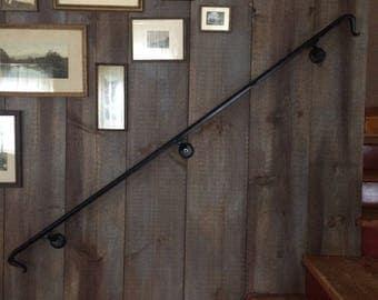 lambs tongue wrought iron hand rail railing