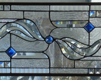 Stained Glass Window Hanging 31 X 11 3/4