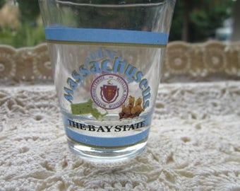 Massachusetts souvenir shot glass
